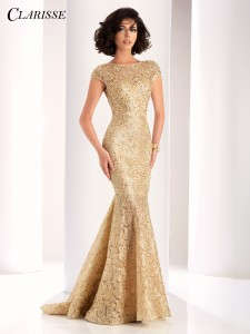 Clarisse Dress 4852 in Gold for 2018 Prom Season